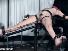 Teen endures a harsh treatment during a really kinky BDSM toy play