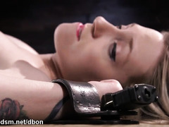 Savage pussy treat during bondage for the obedient blonde