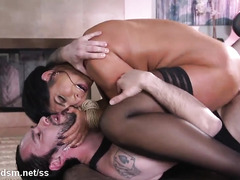 Top raven gets ass fucked in brutal anal bondage XXX