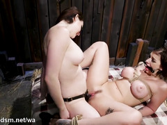 Super steamy lesbian BDSM with two amazing babes
