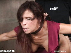 Busty mature throated and made to endure harsh sex
