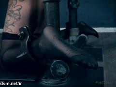 Stunning brunette porn doll in severe BDSM tryout