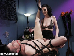 Sensational cock domination for busty mistress with insane desires