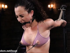 Severe bondage for obedient babe faced with a rough treatment