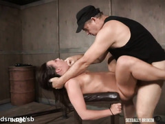 Strong scenes of severe BDSM with a young amateur