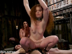 Wild fantasy BDSM threesome with the finest lesbian whores