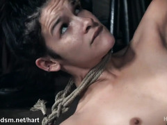 Rough anal and pussy BDSM for two lesbos