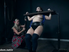 Chubby milf with huge tits, infernal lesbian restraint