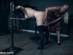 Chubby milf with huge tits, infernal lesbian restraint