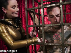 Veruca plays really rough with her enslaved male partner