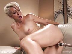 Wife deals the fuck machine in smashing nude scenes