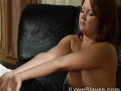 Classic scene of slave in love with her master and brutal sex