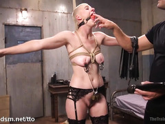 Busty milf brutally fucked in amateur BDSM scenes