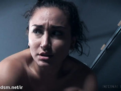 Restrained brunette endures severe anal treatment in BDSM