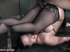 Stunning scenes of a busty whore being dominated in rough sex scenes