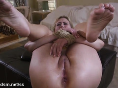 Fantasy BDSM home sex with a submissive blonde