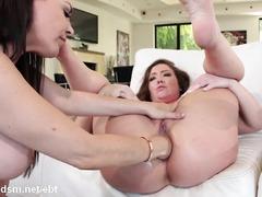 Three sluts in a kinky lesbian anal threesome