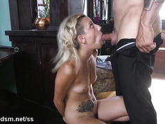 Tight blonde gets extreme fucked in both pussy and ass