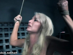 Clothed milf dominated and forced fucked with toys