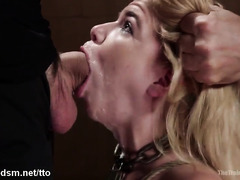 Training session to become the perfect slave ends nasty