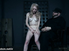 Petite blonde dominated in rough sexual play by horny dominant partner