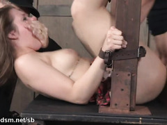 Schoolgirl gets forced fucked in both her holes