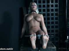Busty blonde cries of pain while being dominated in wild session