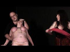 Mature Lesbian Slavegirls Bizarre Punishment and Whipping of Andrea
