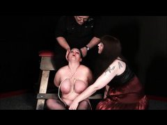 Mature Lesbian Slavegirls Bizarre Punishment and Whipping of Andrea