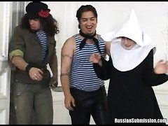 Two innocent nuns involved into sexual revolution by perverted anarchists