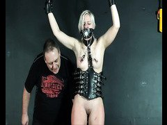 Kinky blonde teen leather slavegirl Chaos