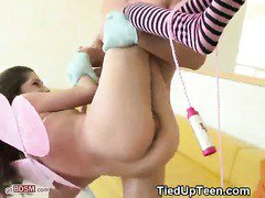 Teen In Winged Costume Tied Up And Fucked