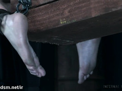 Naked slut gets chained and spanked in brutal BDSM sex play