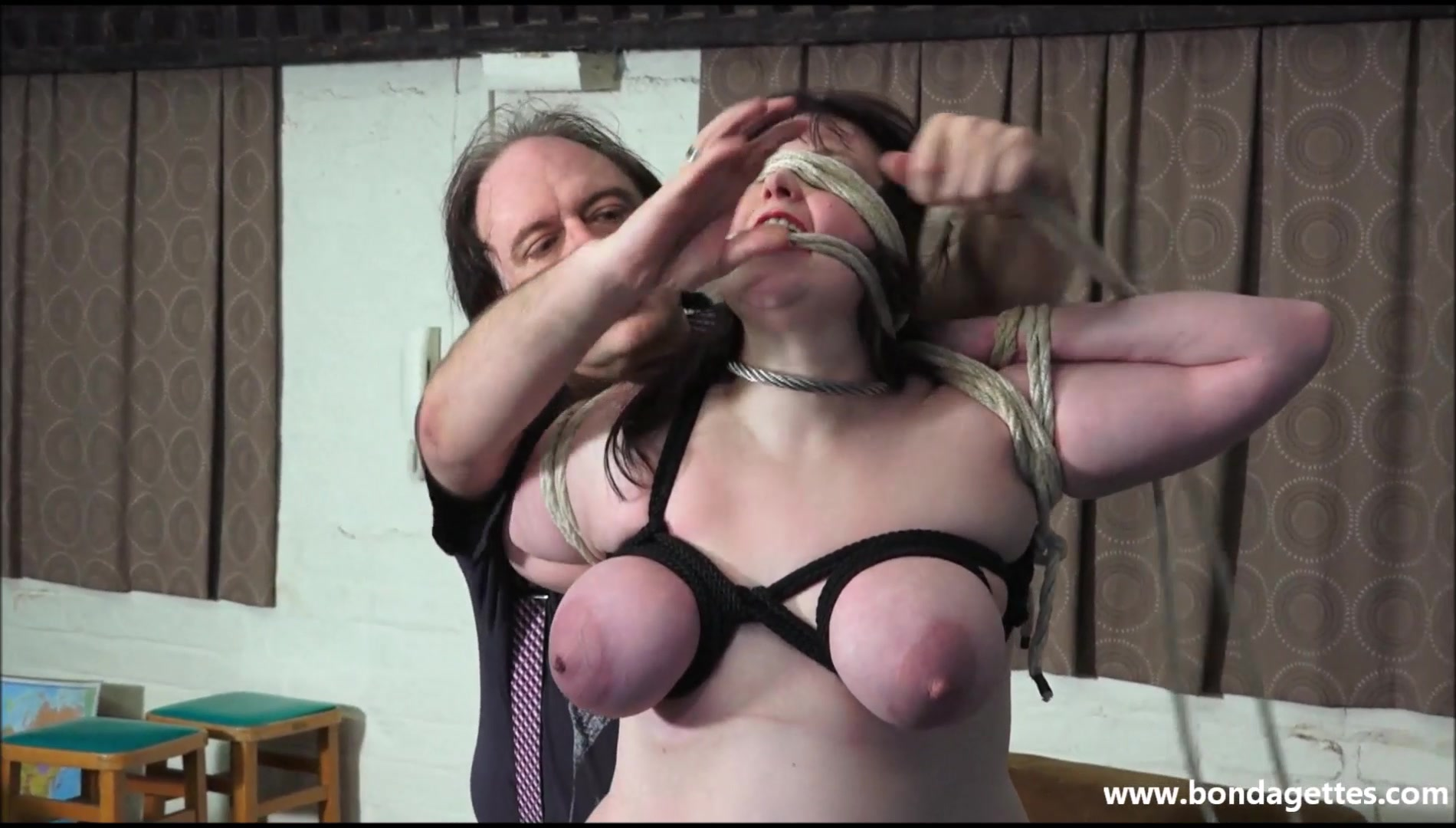 Pics breast bondage Forced to
