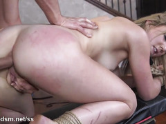 Blonde endures a lot of dick in the pussy and ass