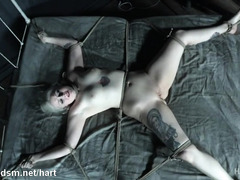Milf tied to the bed, asphyxiated and roughly fucked