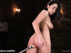 Sweet amateur pumps her tight holes in brutal modes