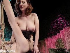 Rough lesbian anal in scenes of femdom