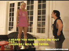 A petite Russian blonde punished with humiliating domination