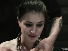 Katherine Cane experiences great pain during her first day of training