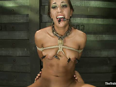 Lyla Storm's first day of slave training with Derrick Pierce goes well