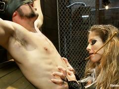 Seductive Mistress Felony doesn't allow her captive a pain-free moment