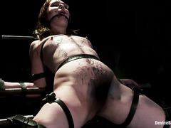 Sarah Shevon is spread open wide and made to moan in agonizing pleasure