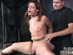 A beautiful redhead falls victim to a raunchy janitor's perverted plans