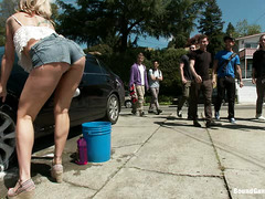 Simone Sonay gets all of her dirty holes filled up by young fuckers