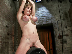Felony cums hard so many times while tied to the powerful sybian