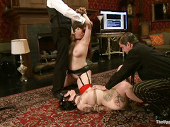 Nerine Mechanique and Sparky Sin Claire are fucked and abused until they cum