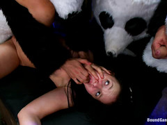 Ashli Orion is double penetrated and fucked hard by panda bears