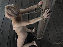 Three gorgeous ladies take turns being abused by this older Dom