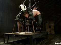 Cherry Torn is punished by way of caning, whipping, fucking and fire